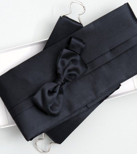 Satin Range Cummerbund & Bow Set